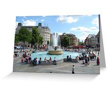 London - Trafalgar Square Greeting Card
