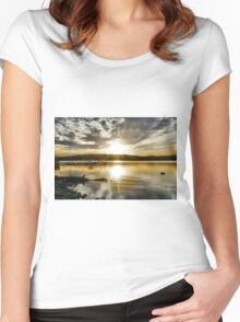Gold Sunset Women's Fitted Scoop T-Shirt