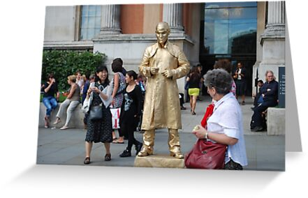 London - Golden Man - street artist by santoshputhran