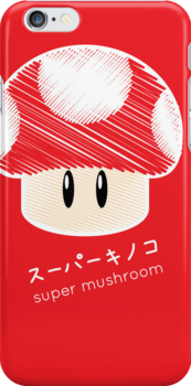 super mushroom -scribble- by steve landaverde
