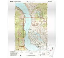 USGS Topo Map Washington State WA Manson 242172 2004 24000 Poster