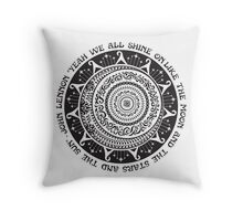 Yeah We All Shine On John Lennon Quote Art Throw Pillow