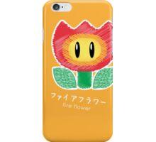 fire flower -scribble- iPhone Case/Skin