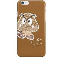 goomba -scribble- iPhone Case/Skin