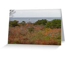 Autumn by the sea Greeting Card
