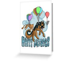 Cute Animals Birthday Card Greeting Card