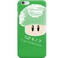 1-UP mushroom -scribble- iPhone Case/Skin