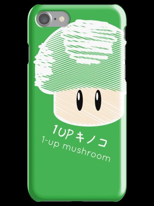 1-UP mushroom -scribble- by Steve Landaverde