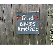 God Bless America! Photographic Print