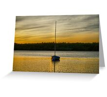 Boat in Gold Lake Greeting Card