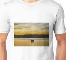 Boat in Gold Lake Unisex T-Shirt