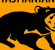 Tasmanian Devil Yellow Diamond Warning Sign Die Cut Sticker Sticker