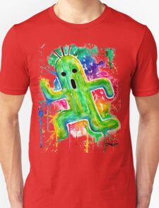 Cute Cactuar - Running Watercolor - Final fantasy - Jonny2may - Awesome!  T-Shirt