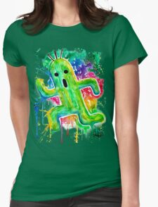Cute Cactuar - Running Watercolor - Final fantasy - Jonny2may - Awesome!  Womens T-Shirt