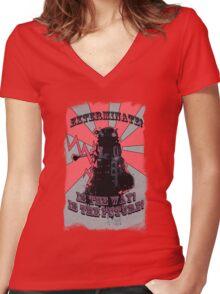 Dalek!! Women's Fitted V-Neck T-Shirt