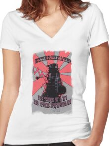 Dalek!! Women's Fitted V-Neck T-Shirt