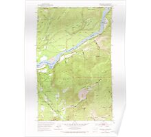 USGS Topo Map Washington State WA Boundary 240174 1952 24000 Poster
