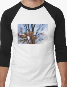 Abstract Impressions of Fall - Maple Leaves and Bare Branches Men's Baseball ¾ T-Shirt