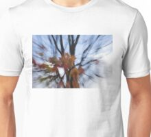 Abstract Impressions of Fall - Maple Leaves and Bare Branches Unisex T-Shirt