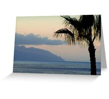 Sunset over Los Gigantes and La Gomera Greeting Card