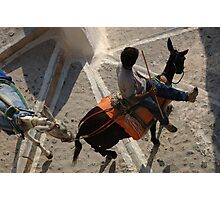 Burro Taxi Santorini Greece Photographic Print