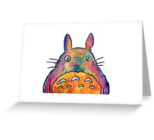 Cute Colorful Totoro! Tshirts + more! Jonny2may Greeting Card