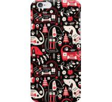 Dog Folk In Black/ Red iPhone Case/Skin