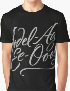 """Happy Yodelling Calligraphy  """"Yodel-Ay-Ee-Oooo""""  Brush Lettering Graphic T-Shirt"""