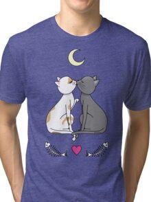 Cats in love kawaii Tri-blend T-Shirt