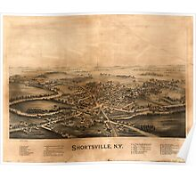 Panoramic Maps Shortsville NY Poster