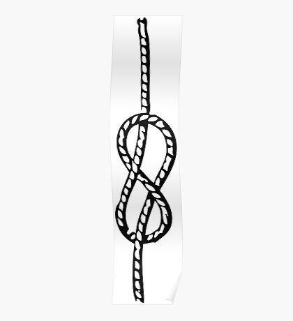 Figure-eight knot Poster
