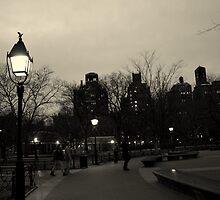 Washington Square Park at Night by Amanda Vontobel Photography