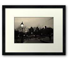 Washington Square Park at Night Framed Print