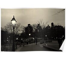 Washington Square Park at Night Poster