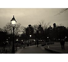 Washington Square Park at Night Photographic Print