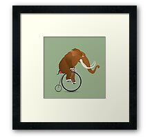 Mammoth on a bicycle Framed Print