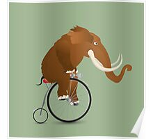 Mammoth on a bicycle Poster