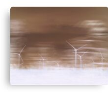 Ghostly wind turbines Canvas Print