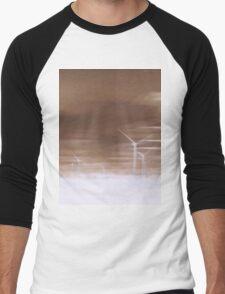 Ghostly wind turbines Men's Baseball ¾ T-Shirt
