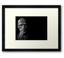 Another day, another artist mentally prepares Framed Print