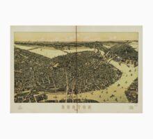 Panoramic Maps Boston 1899 Kids Tee
