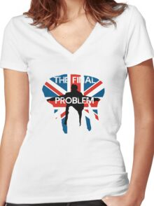 THE FINAL PROBLEM Women's Fitted V-Neck T-Shirt