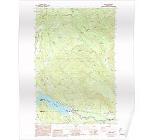 USGS Topo Map Washington State WA Elbe 240978 1987 24000 Poster