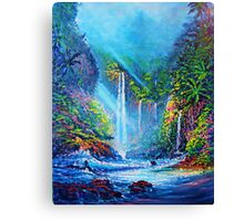 Misty Waterfall (river of life) Canvas Print