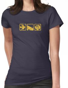 Force Balance Push Womens Fitted T-Shirt