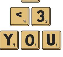 Scrabble Love Sticker