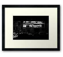 Eye Catching shadows Framed Print