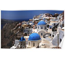 Santorini On the Edge Poster