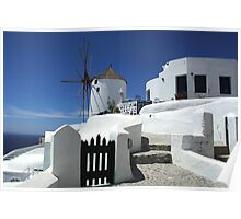 Windmill At Iao Greece Poster