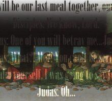 The Black & White Last Supper Sticker